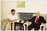 北京马春林与原卫生部部长合影